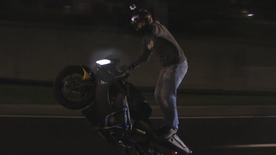 "Sport Bike Stunts + Tricks On Highway ROC 2014 Ride Of Century ""Frank The Tank"" Motorbike Wheelies"