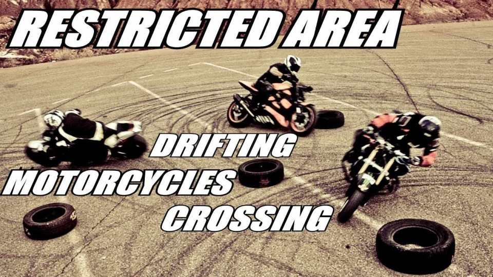 Restricted Area – Drifting Motorcycles Crossing – Switch Riders Gymkhana