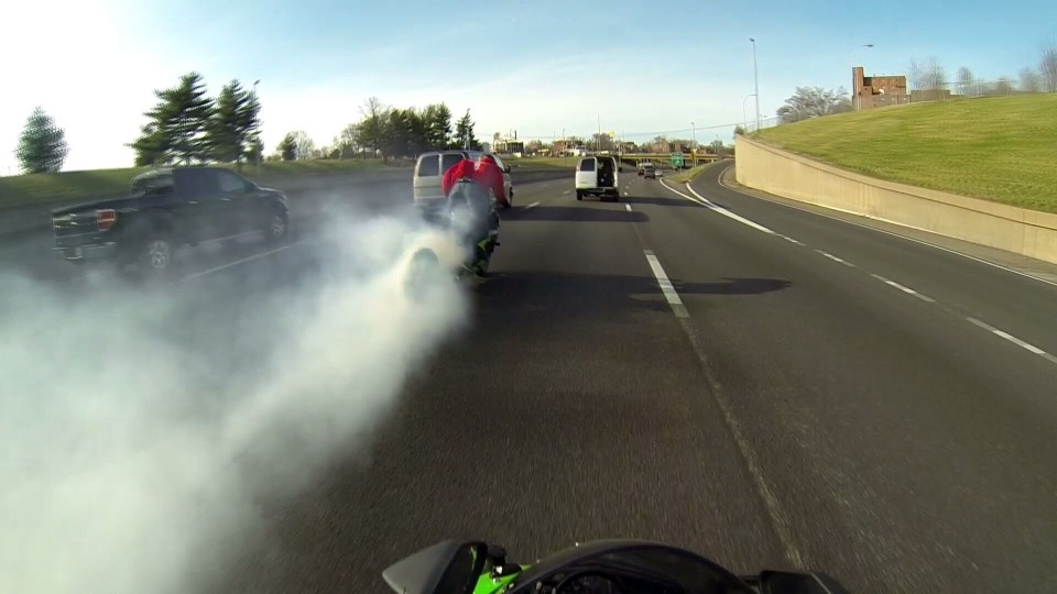Massive Highway Burnout Smoke Screen