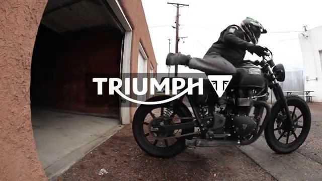 Alley Thrashing on a Bonneville | f/ Ernie Vigil