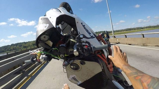 Motorcycles CRASH 2 Separate Wheelie FAILS In 2 Mins ROC Ride Of The Century 2016 Kawasaki Ninja 636