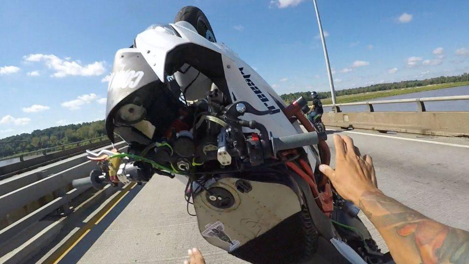 Motorcycles CRASH 2 Separate Wheelie FAILS In 2 Mins ROC Ride Of The Century 2016 Kawasaki Ninja 636